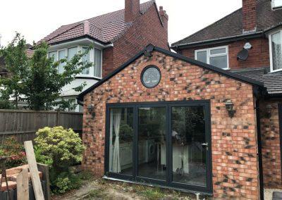 Double Glazing Aluminium extension bifold doors installation, knowle, solihull, bromsgrove, stratford upon avon, evesham and birmingham